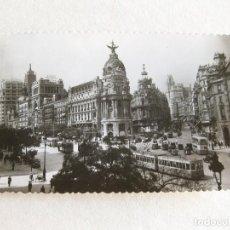 Postales: POSTAL FOTOGRÁFICA DE MADRID - CALLE DE ALCALÁ Y AVENIDA DE JOSE ANTONIO - GARRABELLA. Lote 120215927