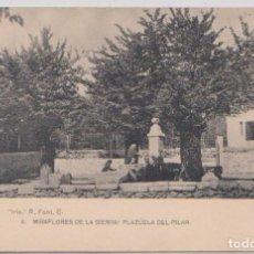 Postales: MIRAFLORES DE LA SIERRA (MADRID) - PLAZUELA DEL PILAR. Lote 120770623