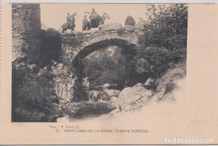 MIRAFLORES DE LA SIERRA (MADRID) - PUENTE RUSTICO (Postales - España - Comunidad de Madrid Antigua (hasta 1939))