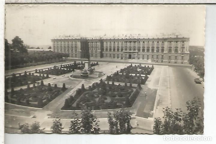 MADRID PALACIO REAL ESCRITA (Postales - España - Comunidad de Madrid Antigua (hasta 1939))