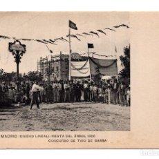 Postales: MADRID.- CIUDAD LINEAL. FIESTA DEL ÁRBOL 1906. CONCURSO DE TIRO DE BARRA, N. 55. Lote 121537383