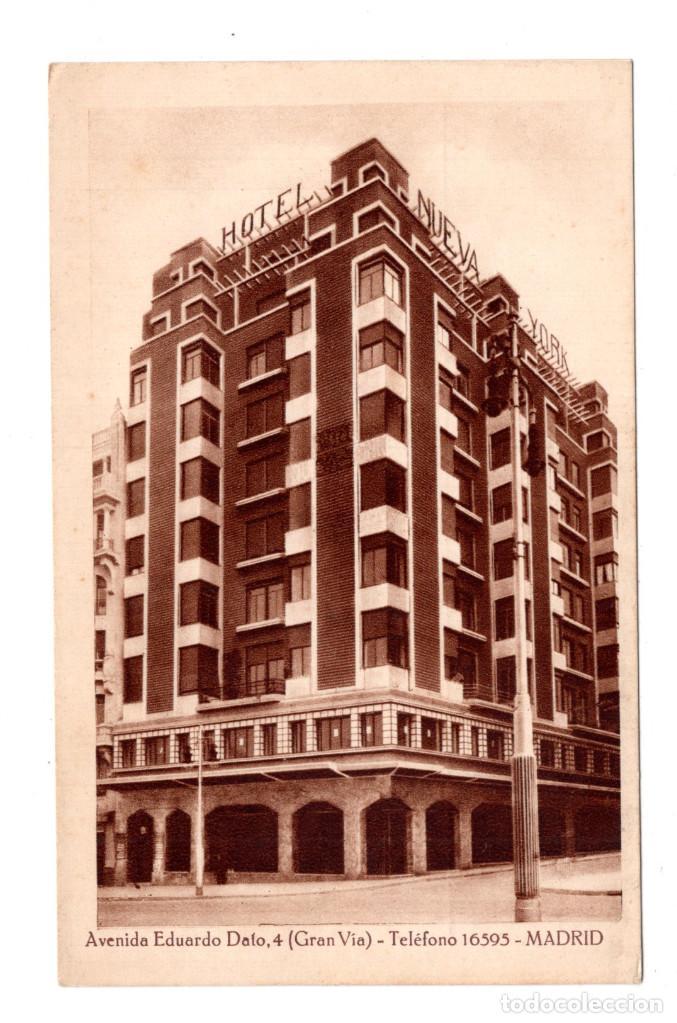 MADRID.-AVENIDA EDUARDO DATO (GRAN VÍA).-HOTEL NUEVA YORK (Postales - España - Comunidad de Madrid Antigua (hasta 1939))
