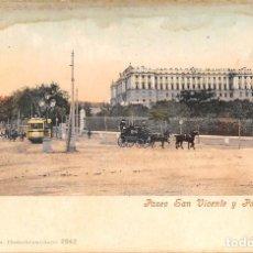 Postales: MADRID.- PASEO SAN VICENTE Y PALACIO REAL. Lote 121726399