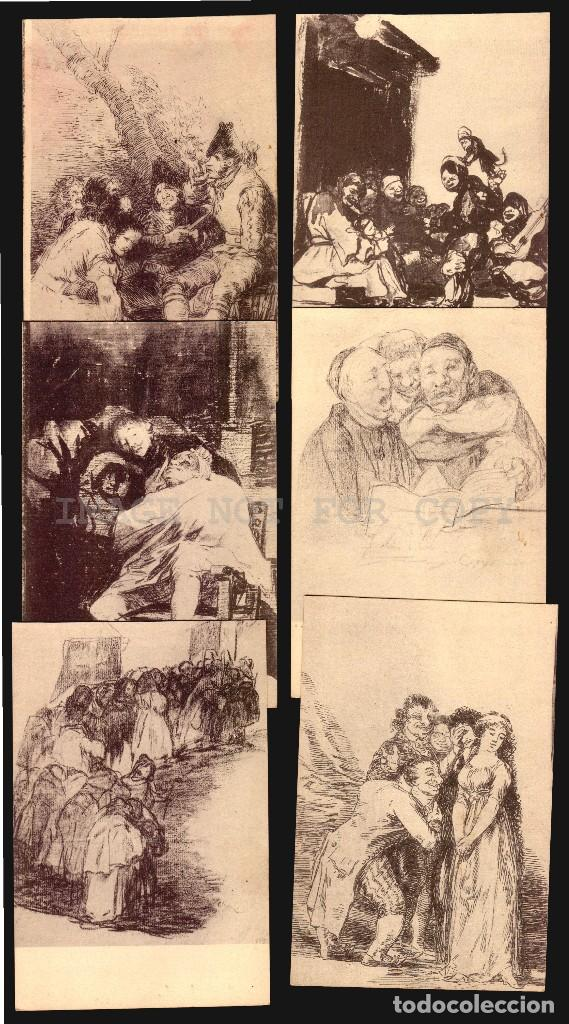 GOYA DIBUJOS MUSEO DEL PRADO SERIE DE 20 TARJETAS POSTALESFOTOTIPIA HAUSER Y MENET (Postales - España - Comunidad de Madrid Antigua (hasta 1939))