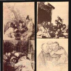 Postales: GOYA DIBUJOS MUSEO DEL PRADO SERIE DE 20 TARJETAS POSTALESFOTOTIPIA HAUSER Y MENET. Lote 121897879