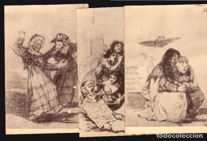 Postales: Goya dibujos Museo del Prado serie de 20 tarjetas postalesFototipia Hauser y Menet - Foto 4 - 121897879