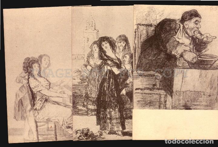 Postales: Goya dibujos Museo del Prado serie de 20 tarjetas postalesFototipia Hauser y Menet - Foto 5 - 121897879
