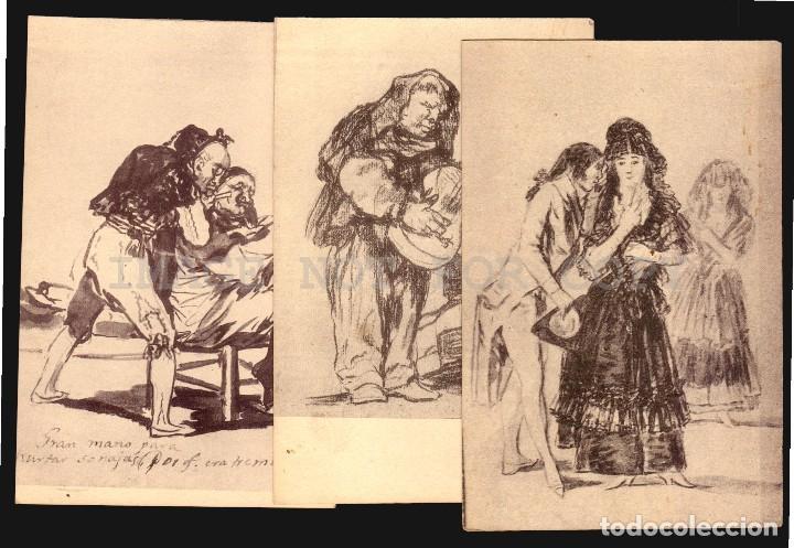 Postales: Goya dibujos Museo del Prado serie de 20 tarjetas postalesFototipia Hauser y Menet - Foto 6 - 121897879