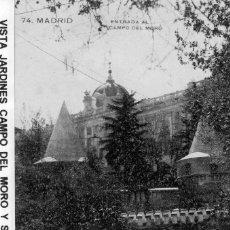Postales: MADRID.- ENTRADA AL CAMPO DEL MORO, SIN CIRCULAR, FTO.GRAFOS,JMOLINA1946. Lote 122110943