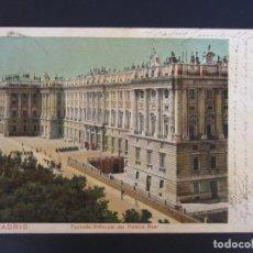 Postais: POSTAL DE MADRID. FECHADA AÑO 1903. FACHADA PRINCIPAL PALACIO REAL. ROMO. Lote 122183887