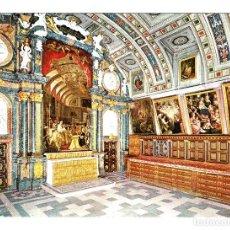 Postales: MADRID - EL ESCORIAL Nº 48 SACRISTIA - E.P.N. SELLO 1 PESETA IV CENTENARIO EVANGELIZACION FILIPI. Lote 122184831