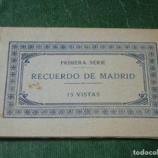 Postales: RECUERDO DE MADRID 15 VISTAS - PRIMERA SERIE - FOTOGRAFIA J.ROIG. Lote 122282719