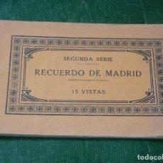 Postales: RECUERDO DE MADRID 15 VISTAS - SEGUNDA SERIE - FOTOGRAFIA J.ROIG. Lote 122282799