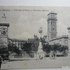 Postales: POSTAL MADRID ENTRADA AL RETIRO Y ESCUELAS AGUIRRE CM. Lote 122344439