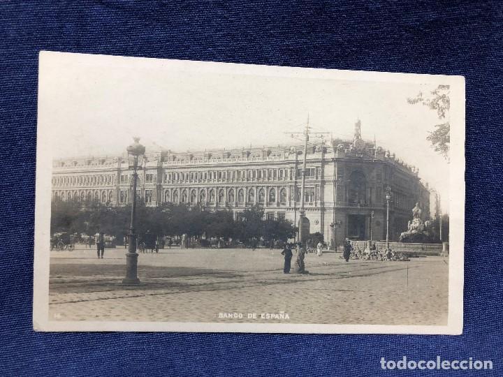 POSTAL ANTIGUA MADRID BANCO DE ESPAÑA NO CIRCULADA NI ESCRITA (Postales - España - Comunidad de Madrid Antigua (hasta 1939))