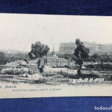 Postales: PALACIO REAL DESDE EL PUENTE DE SEGOVIA 117 LACOSTE CIRCULADA ESCRITA 1908 ESCRITA FRANCES RELATO. Lote 123414727