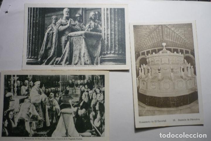 LOTE POSTALES EL ESCORIAL -CM (Postales - España - Madrid Moderna (desde 1940))