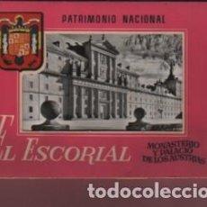 Postales: BLOC ALBUM POSTALES - EL ESORIAL MOMASTERIO Y PALACIOS DE LOS AUSTRIAS PATRIMONIO NACIONAL D FISA N3. Lote 124230471