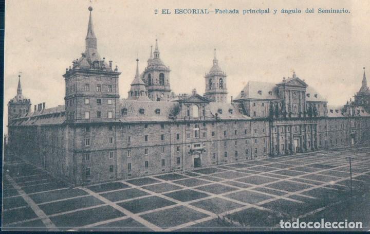 POSTAL EL ESCORIAL 2 - FACHADA PRINCIPAL Y ANGULO DEL SEMINARIO - LACOSTE (Postales - España - Comunidad de Madrid Antigua (hasta 1939))