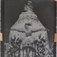 Postales: ANTIGUO CLICHÉ DEL SANTÍSIMO CRISTO DEL HUMILLADERO COLMENAR DE OREJA MADRID NEGATIVO EN CRISTAL. Lote 125243579