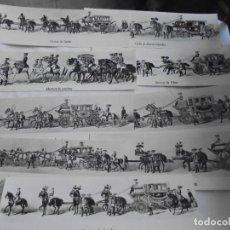 Postales: 9 POSTALES,SERIE CARROZAS, PALACIO REAL DE MADRID, PATRIMONIO NACIONAL (SIN CIRCULAR).. Lote 125444643