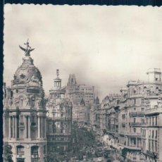Postales: POSTAL MADRID 47 - AVENIDA JOSE ANTONIO - H A E - CIRCULADA. Lote 125885687
