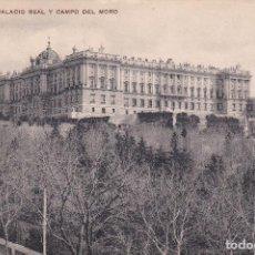 Postales: POSTAL DE MADRID - PALACIO REAL Y CAMPO DEL MORO. Lote 126422503