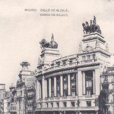 Postales: POSTAL DE MADRID - CALLE DE ALCALÁ - BANCO BILBAO. Lote 126426015