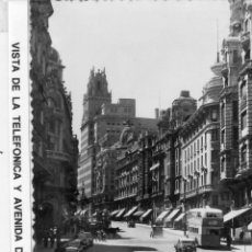 Postales: MADRID.- AV/ GRAN VIÁ,Cª, TELEFÓNICA,SIN CIRCULAR. FTO.F.MOLINA.JMOLINA1946. Lote 126629819
