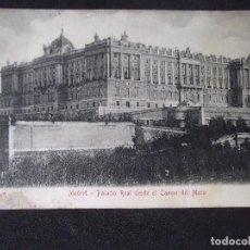 Postales: MADRID-V12B-SXX-140X90MM-PALACIO REAL DESDE EL CAMPO DEL MORO. Lote 126771583