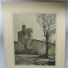 Postales: FOTOGRAFIA ORIGINAL DEL FOTOGRAFO J. JIMENEZ 1930, ROBLEDON (MADRID), IGLESIA, POSIBLEMENTE SE TRATA. Lote 127309859