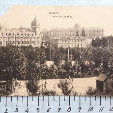 Postales: MADRID, PLAZA DE ESPAÑA. SIN CIRCULAR. FALTA LA ESQUINA SUPERIOR IZQUIERDA. . Lote 127539771
