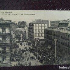 Postales: CALLE DE LA PRINCESA EN VIERNES SANTO. NÚM 12 MADRID. SIN CIRCULAR.. Lote 127576727