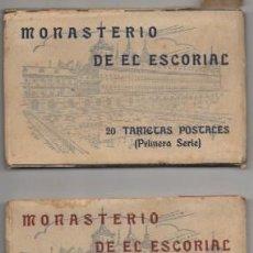 Postales: BLOC POSTAL: MONASTERIO DEL ESCORIAL. PRIMERA Y SEGUNDA SERIE. 40 POSTALES P-BLOC-254. Lote 128513203