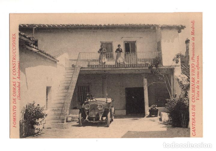 COLMENAR VIEJO.- FOMENTO DE OBRAS Y CONSTRUCCIONES. CANTERAS . VISTA DE LA CASA OFICINAS (Postales - España - Comunidad de Madrid Antigua (hasta 1939))