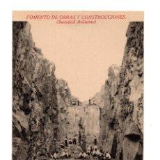 Postales: COLMENAR VIEJO.- FOMENTO DE OBRAS Y CONSTRUCCIONES. CANTERAS . VISTA DE UNA CANTERA. Lote 128662159