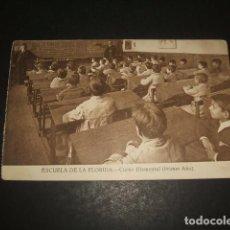 Postales: MADRID ESCUELA DE LA FLORIDA CURSO ELEMENTAL PRIMER AÑO. Lote 128676439