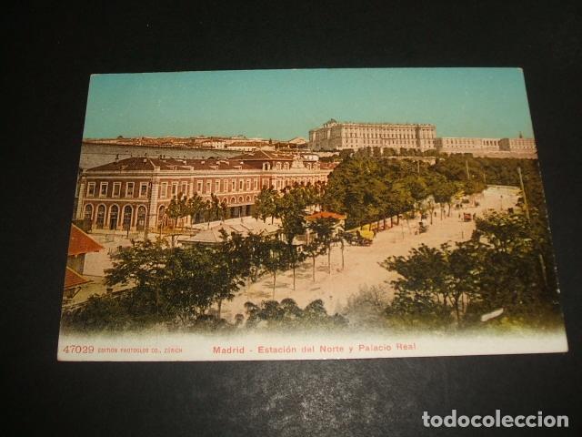 MADRID ESTACION DEL NORTE Y PALACIO REAL (Postales - España - Comunidad de Madrid Antigua (hasta 1939))