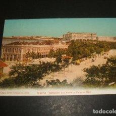 Postales: MADRID ESTACION DEL NORTE Y PALACIO REAL. Lote 128713291