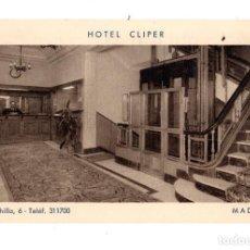 Postales: MADRID.- HOTEL CLIPER. CALLE CHINCHILLA 6. Lote 128998315