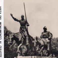 Postales: MADRID.- MOUMENTO AL QUIJOTE, SIN CIRCULAR.DIVIDIDA. FTO. HELIOTIPIA ARTISTICA. Lote 129160771
