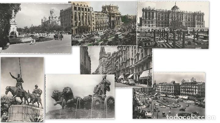 LOTE 7 POSTALES ANTIGUAS - MADRID- CIRCULADAS - ESPAÑA - (Postales - España - Madrid Moderna (desde 1940))