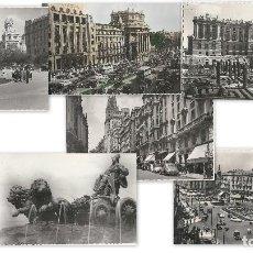 Postales: LOTE 7 POSTALES ANTIGUAS - MADRID- CIRCULADAS - ESPAÑA - . Lote 129308507