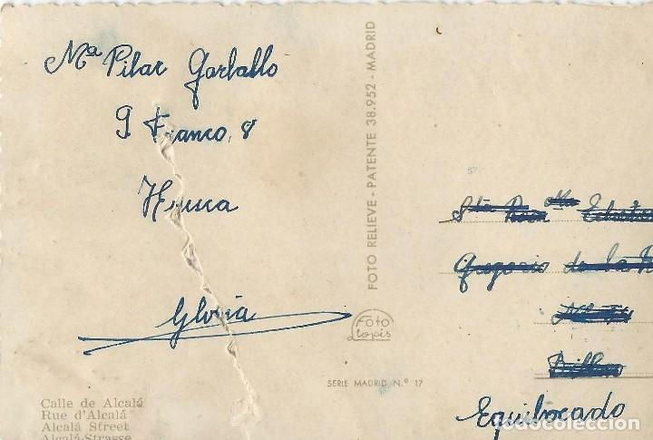 Postales: LOTE 7 POSTALES ANTIGUAS - MADRID- CIRCULADAS - ESPAÑA - - Foto 11 - 129308507