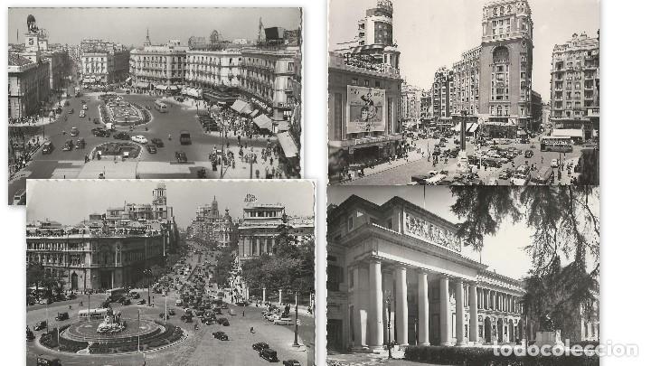 Postales: LOTE 4 POSTALES ANTIGUAS - MADRID - CIRCULADAS - ESPAÑA - - Foto 9 - 129308711
