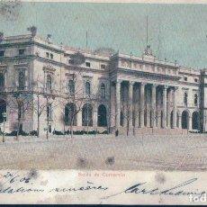 Postales: POSTAL MADRID - BOLSA DE COMERCIO - ROMO Y FUSSEL 29 - CIRCULADA SIN DIVIDIR. Lote 129665855