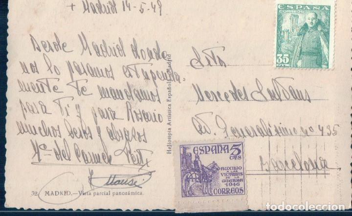 Postales: POSTAL MADRID 32 - VISTA PARCIAL PANORAMICA - H A E - CIRCULADA - Foto 2 - 129666131