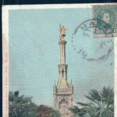 Postales: POSTAL MADRID - MONUMENTO A COLON EN LA CASTELLANA - ROMO Y FUSSEL 932 - CIRCULADA SIN DIVIDIR. Lote 129694907