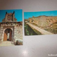 Cartes Postales: CASTILLO DE CHINCHÓN DE CÍA ESPAÑOLA DE LICORES, FÁBRICA DEL ANÍS. 1 Y 2 1.965. VISTA Y DETALLE ENTR. Lote 130096115