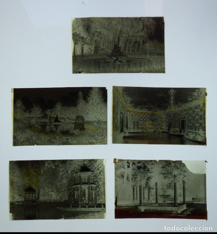 Postales: ARANJUEZ, MADRID - 5 CLICHES ORIGINALES - NEGATIVO EN CELULOIDE - ED. ARRIBAS - Foto 2 - 130248194